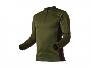 Longsleeve PFANNER Zip Neck Green